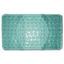 Коврик резиновый массажный 66х39 (BR-6639) для ванной на присосках, зеленый