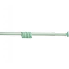 """Карниз для ванной """"Zalel"""" 110-200см, зеленый с кольцами"""