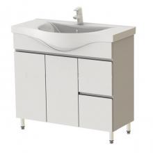 """Тумба для ванной """"MONIKA NOVA"""" 100см с 2-мя бок. ящиками на ножках, б"""