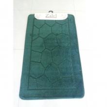 "Коврик для ванной ""Zalel"" 55х85/90см (ворс) т.зеленый"