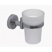 Стакан (F044) для зубных щеток и пасты с держателем, настенный