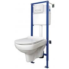 Комплект: CITY NEW CLEAN ON (унитаз подвесной с сиденьем slim DP lift+инст.LINK