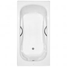 Ванна стал. 170х75 PRINCESS-N с отв. под ручки, антискольж. (72202E0000) ROCA