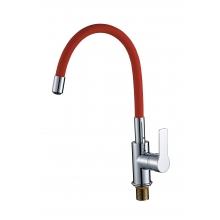 Смеситель ZOLLEN RHEIN (арт.RH77812731) для кухни, гибкий излив, красный
